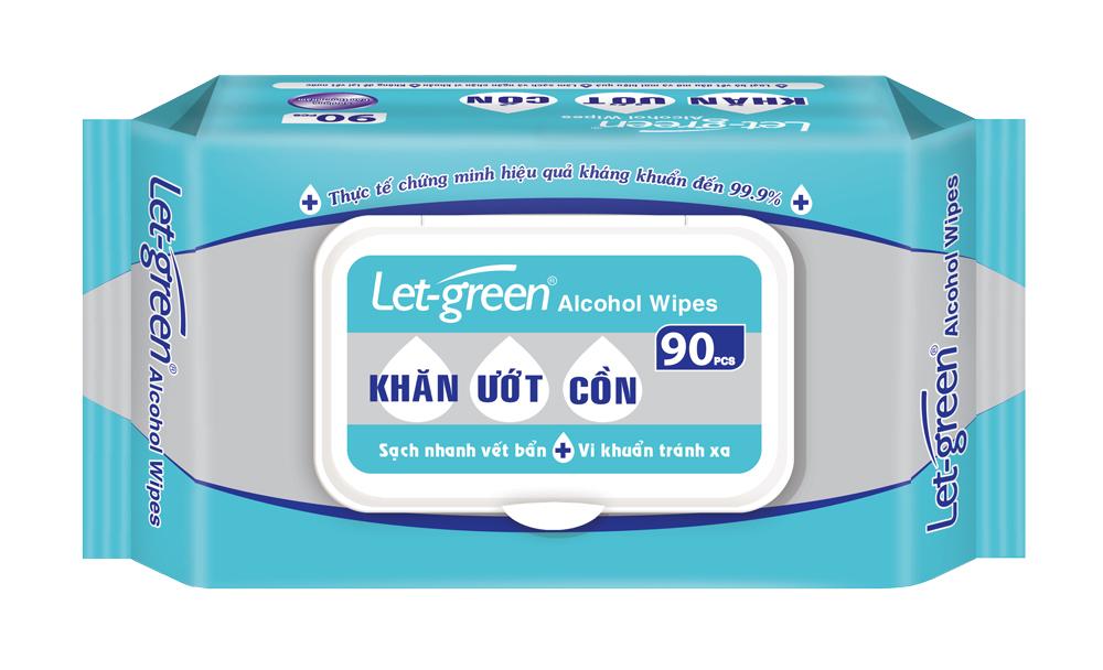 Khăn Ướt Cồn Let-green 90 miếng