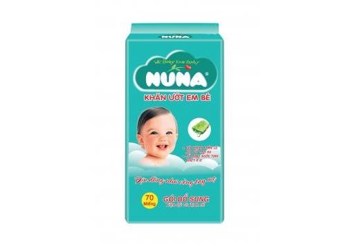 Khăn Ướt Em Bé Nuna GBS 70 Miếng