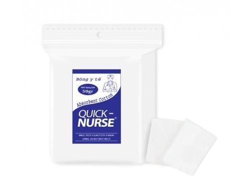 Bông cắt Quick-nurse 6cm*6cm - 50gr