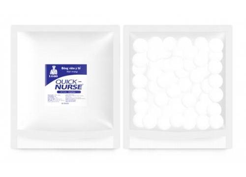 Bông viên tiệt trùng Quick-nurse Ø3cm - 50gr